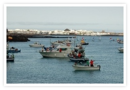 Boats appearing for Playa Blanca festival