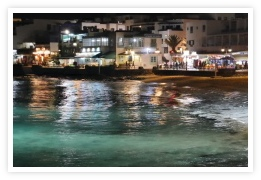 stunning night time views in Playa Blanca