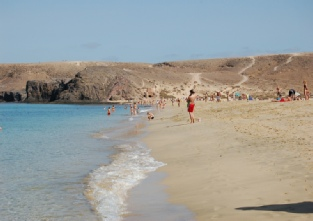Golden sands of Papagayo beach